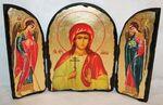 Алла Св.Мч., с Архангелами, традиционный Афонский складень 35 Х 24 см.