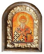 Спиридон Тримифунтский. Икона Иерусалимская арочная