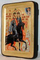 Борис и Глеб, икона Греческая, 13 Х 17