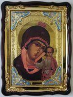 Табынская Б.М., в фигурном киоте, с багетом. Храмовая икона (60 Х 80)