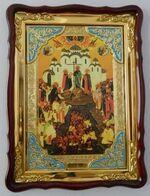 Крещение Руси, в фигурном киоте, с багетом. Храмовая икона (60 Х 80)