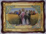 Притча о субботе, в фигурном киоте, с багетом. Храмовая икона 60 Х 80 см.