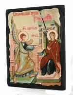 Благовещение Б.М., икона синайская, 13 Х 17