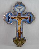 Крест подвесной деревянный (3) фигурный