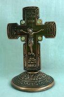 Крест настольный металлический (146)