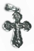 Крест нательный металл (1-23) литой цвет серебро