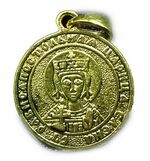 Образок нательный литой (49) Св.Рв.Ап.Цр. Елена, цвет золото