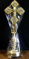 Крест напрестольный требный выносной, на подставке, № 6