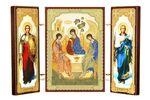 Складень МДФ (10), тройной, Троица с архангелами, 13 Х 8 см.