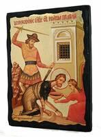 Усекновение главы Иоанна Предтечи, икона синайская, 13 Х 17