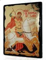 Чудо Георгия о змие, икона синайская, 13 Х 17