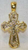 Крест нательный металл (1-41) литой цвет золото