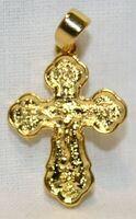 Крест нательный металл (1-39) литой цвет золото