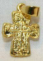 Крест нательный металл (1-05) литой цвет золото