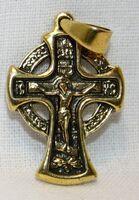 Крест нательный металл (1-16) литой цвет золото чернение