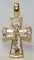 Крест нательный металл (1-38) литой цвет золото