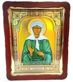 Матрона Московская, в фигурном киоте. Храмовая икона 57 Х 70 см.