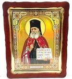 Лука Крымский (пояс), в фигурном киоте. Храмовая икона 57 Х 70 см.