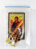 Архангел Гавриил. Набор для домашней молитвы (Zip-Lock). Лик, молитва, свечка, ладан, крестик