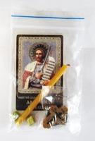 Александр Невский. Святой князь. Набор для домашней молитвы (Zip-Lock). Лик, молитва, свечка, ладан, крестик