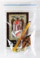 Ангел - Хранитель (рост). Набор для домашней молитвы (Zip-Lock). Лик, молитва, свечка, ладан, крестик