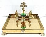 Крышка панихидного стола песочная настольная, с херувимами (ЛУ)