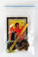 Архангел Михаил (пояс). Набор для домашней молитвы (Zip-Lock). Лик, молитва, свечка, ладан, крестик