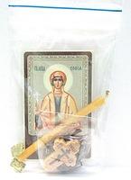 София. Святая мученица. Набор для домашней молитвы (Zip-Lock). Лик, молитва, свечка, ладан, крестик