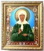 Матрона Московская. Икона в багетной рамке 19 Х 22