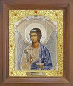 Ангел Хранитель. Икона в деревянной рамке с окладом (Д-26псо-01)