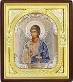 Ангел Хранитель, средняя аналойная икона, риза (Д-1с-01)