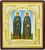 Петр и Феврония, средняя аналойная икона, риза (Д-1с-49)