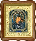 Казанская Б.М., средняя аналойная икона, фигурный киот (Д-20фс-10)