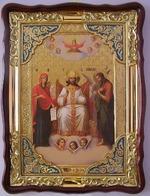 Царь Славы, в фигурном киоте, с багетом. Храмовая икона (60 Х 80)