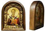 Николай Чудотворец. Икона Иерусалимская арочная
