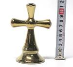 """Подсвечник """"Крест"""", цвет золото (СА)."""