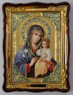 Неувядаемый Цвет Б.М., в фигурном киоте, с багетом. Храмовая икона (60 Х 80)
