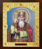 Владимир, Святой Равноапостольный князь. Икона в окладе средняя (Д-21-108)