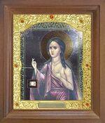 Мария Египетская. Икона в деревянной рамке с окладом (Д-26псо-119)