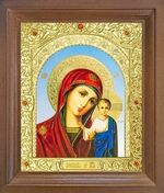 Казанская Б.М. Икона в деревянной рамке с окладом (Д-26псо-12)