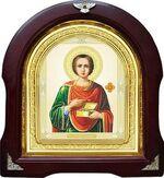 Пантелеймон (пояс). Аналойная арочная икона (А-47)