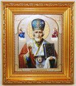 Николай Чудотворец, Икона в багетной рамке 14 Х 16