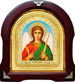 Ангел Хранитель. Аналойная арочная икона (А-02)