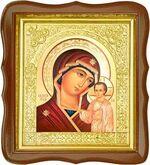 Казанская Б.М., средняя аналойная икона, фигурный киот (Д-17фс-13)
