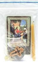 Молитва за детей. Набор для домашней молитвы (Zip-Lock). Лик, молитва, свечка, ладан, крестик