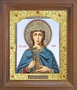 Ирина, Св. Муч. Икона в деревянной рамке с окладом (Д-26псо-130)
