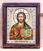 Спаситель, Икона Византикос, полуоклад, 12Х14