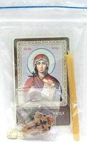 Наталия. Святая мученица. Набор для домашней молитвы (Zip-Lock). Лик, молитва, свечка, ладан, крестик