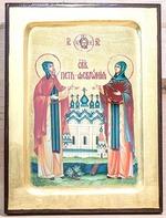 Петр и Феврония, икона Греческая, 17 Х 23