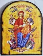 Экономисса Б.М., икона под старину JERUSALEM, арка (13 Х 17)